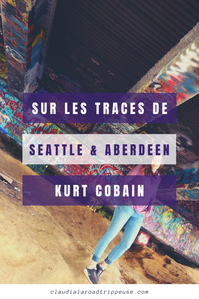 Seattle et Kurt Cobain canva pour Pinterest