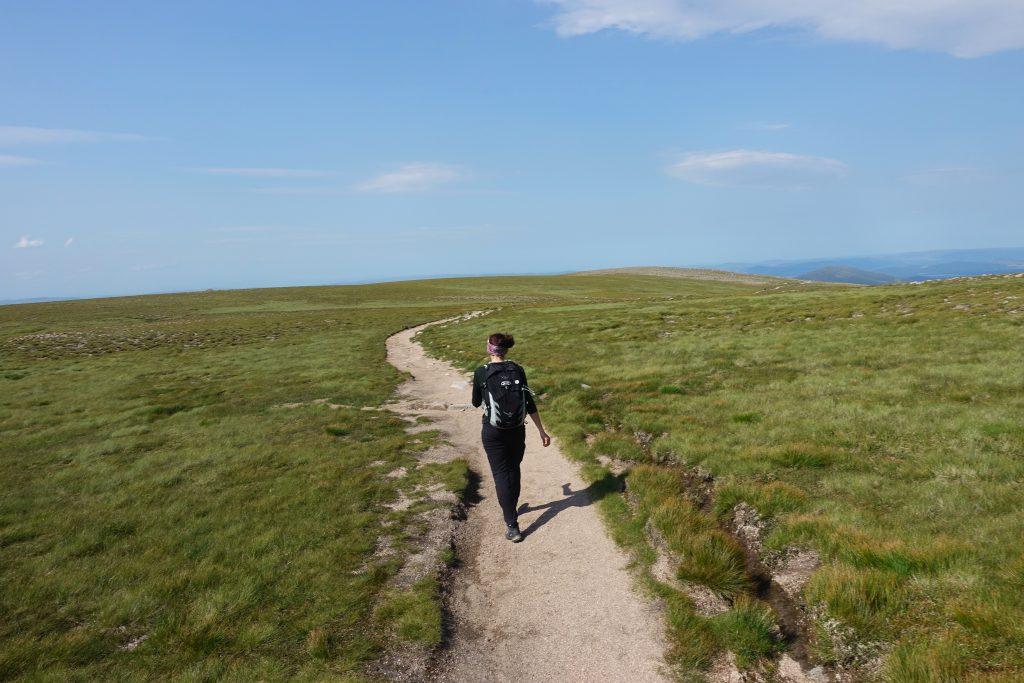 Randonnée sur le mont Ben Macdui au Parc National Cairngorms