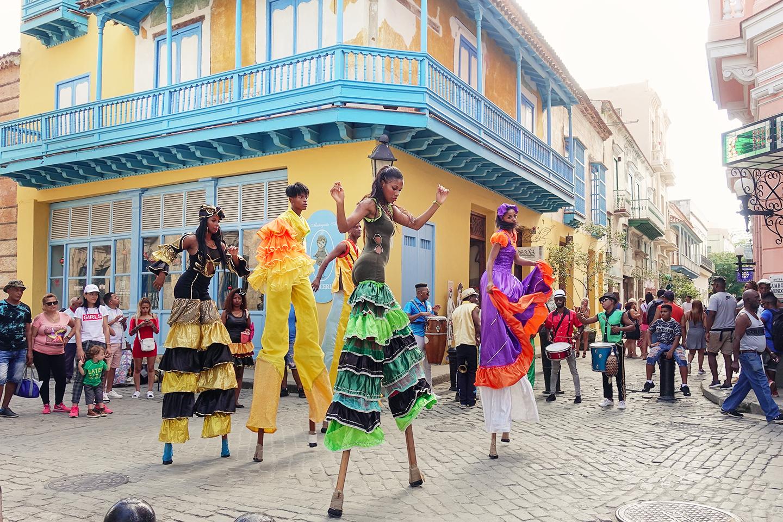 Rues festives de La Havane