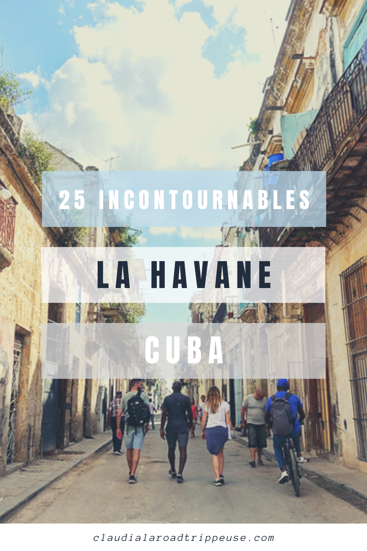 La Havane canva pour Pinterest