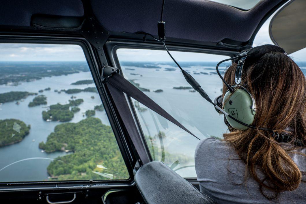 Helicoptère aux Mille-Îles